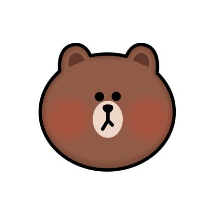 brown cony emoji stickers line friends by line friends