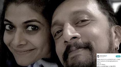 sudeep wishes his wife priya