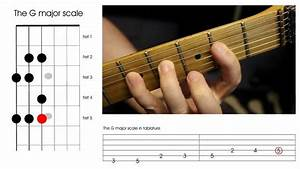 Guitar Scales Chart Printable Pdf How To Play The G Major Scale On A Guitar Beginners