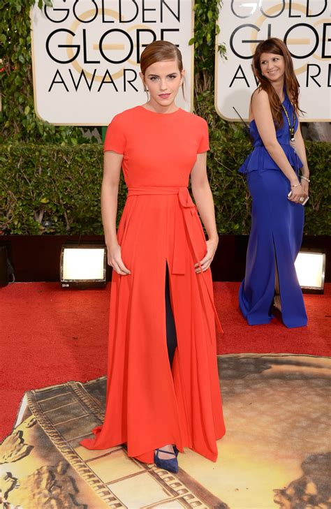 Emma Watson Dress Golden Globes Red Carpet