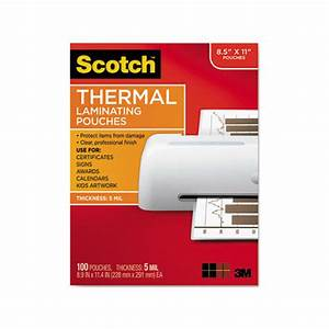 3m letter size thermal laminating pouches mmmtp5854100 With letter size laminating pouches