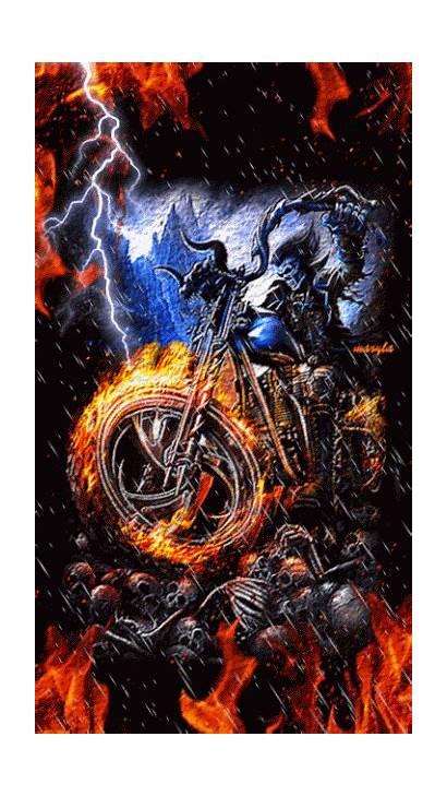 Ghost Rider Marvel Skull Motorcycle Reaper Grim