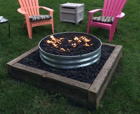 Best Galvanized Fire Pit Ring Images On Pinterest