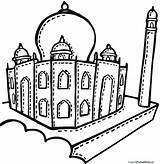 Mahal Taj Coloring Mosque Drawing Pages Printable Getdrawings Getcolorings sketch template