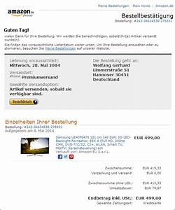 Amazon Rechnung Online : falsche bestellbest tigung von im umlauf mimikama ~ Themetempest.com Abrechnung