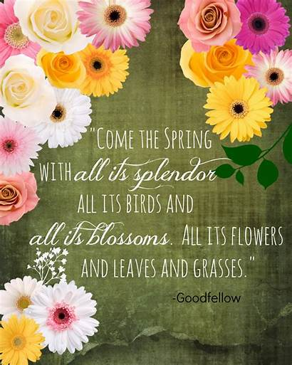 Spring Quotes Happy Printable Sayings Springtime Break