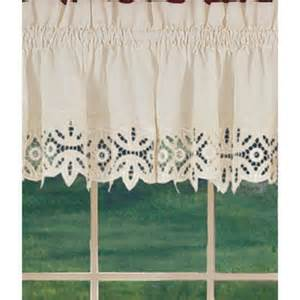 window curtains new battenburg beige cotton lace trim