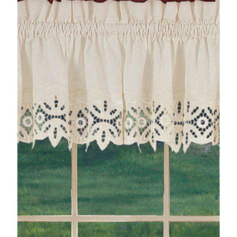 window curtains new battenburg beige cotton lace trim valance 60x30 bhfo ebay