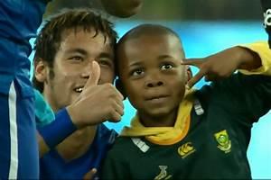 Brazil stars including Neymar and David Luiz delight young ...
