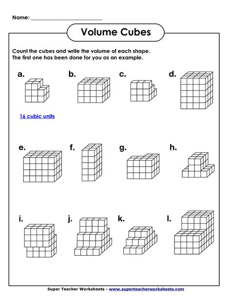 Volume Geometry With Cubic Units (pdf)  Math Worksheets  Pinterest  Pdf, Math And School
