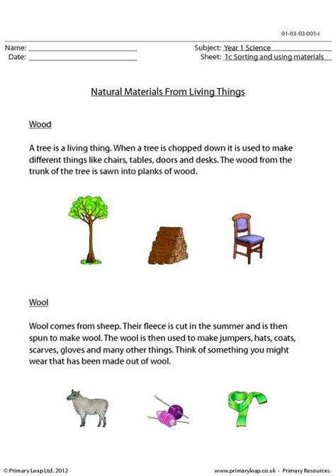 natural materials from living things primaryleap co uk