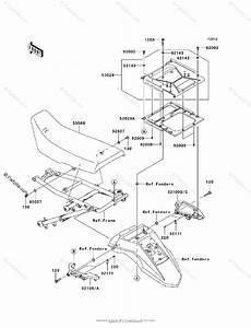 Kawasaki Motorcycle 2009 Oem Parts Diagram For Seat