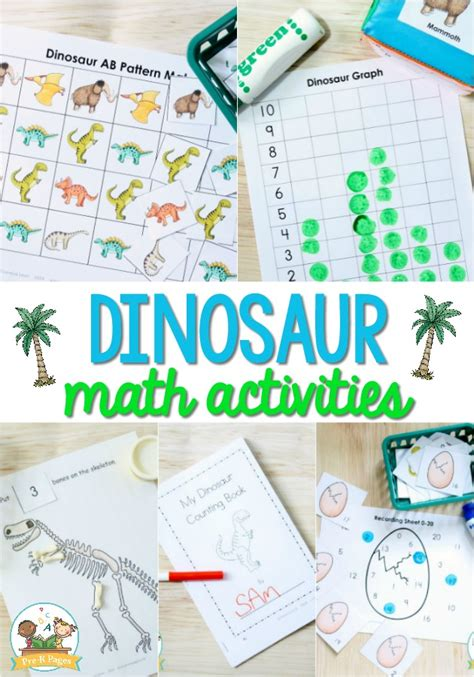 dinosaur math activities for preschool pre k pages 522 | Dinosaur Math Activities for Preschool