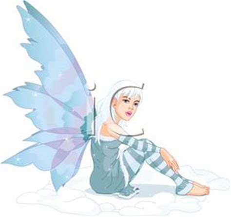 frost fairy sitting  royalty  clipart picture