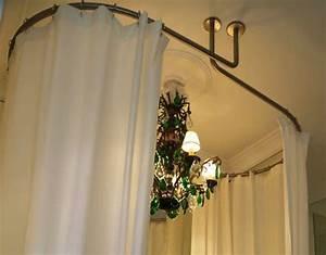 Barre Rideau Fixation Plafond : galbotwins support ovale de rideaux de douche pour ~ Premium-room.com Idées de Décoration