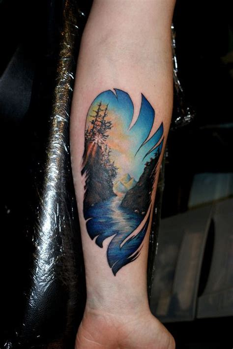 tattoo  land  water
