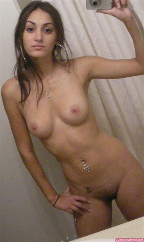 Pretty Latina Teen Takes A Nude Selfie