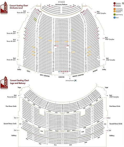 fox theatre atlanta ga seating chart brokeasshomecom