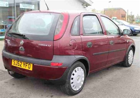 vauxhall red vauxhall 2002 corsa club 16v red car for sale