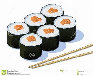 Sushi Illustration stock vector. Image of chopsticks ...