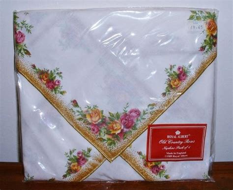 reserved royal albert  country roses napkins