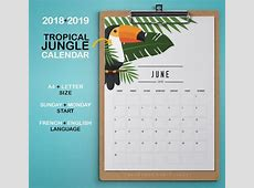 2018 2019 Calendrier imprimable JUNGLE TROPICAL Agenda Etsy