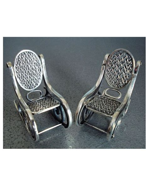 chaise rockincher chaise rockincher miniature en argent massif 925