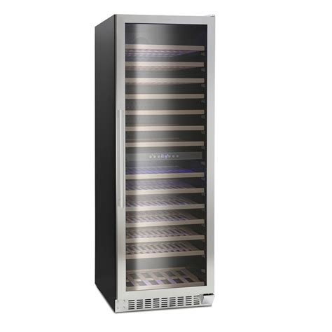 wine cooler cabinets uk montpellier ws166sdx wine cooler 166 bottle dual zone cabinet in stainless steel