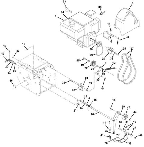 Ariens 824 Snowblower Parts Diagram