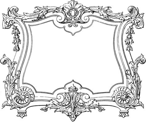 Fabulous Decorative French Frame Image!  The Graphics Fairy