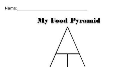 blank food pyramid school nutrition project pinterest