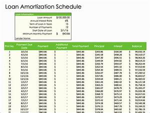 Amortization Table Mortgage 10 Monthly Amortization Schedule Excel Template Excel
