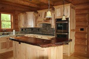 Natural wood countertop - Traditional - Kitchen