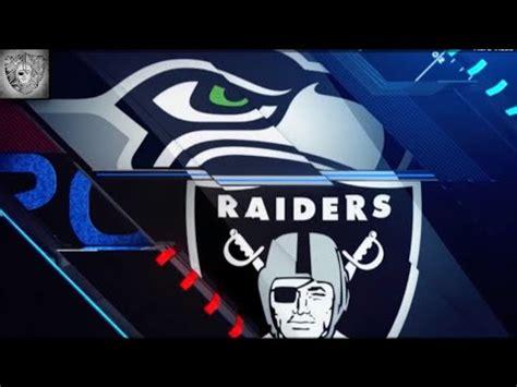 raiders  seahawks preseason  recap hd youtube