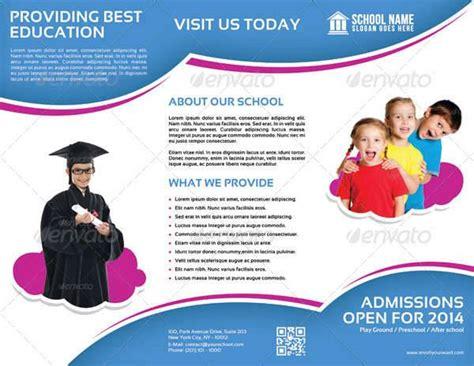Tri Fold School Brochure Template by 26 School Brochure Designs Design Trends Premium Psd