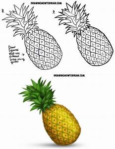 How to Draw a Pineapple Emoji Easy Step by Step Drawing ...