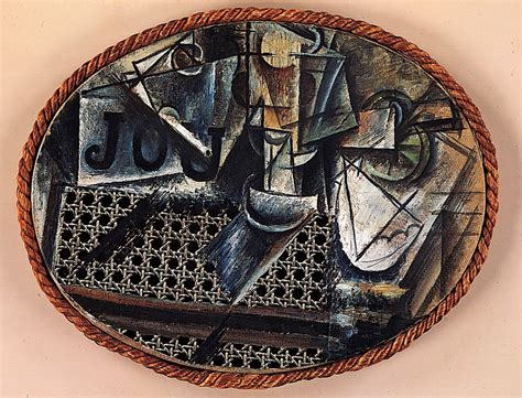 Picasso Still Chair With Caning Collage by Three History 102 With Barnard At Of