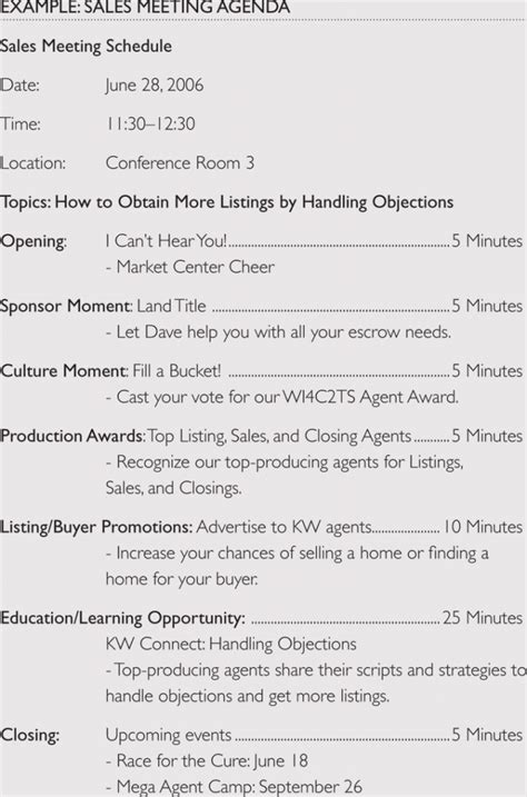 sales meeting agenda templates  meetings