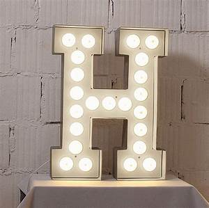 alphabet hollywood light by letteroom notonthehighstreetcom With initial letter lights