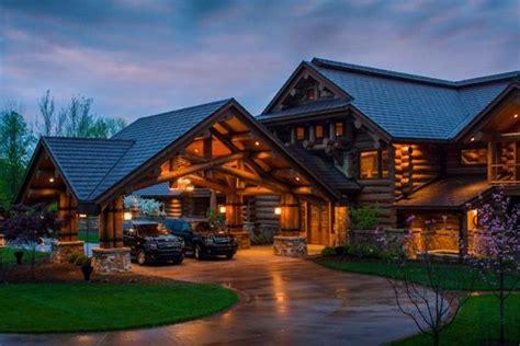 rustic luxury houses  stone  wood perfection   suburban men dream