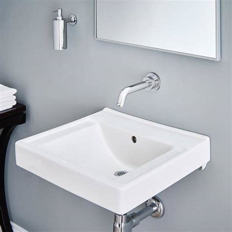Inexpensive Modern Bathroom Sinks by Decorum Wall Hung Bathroom Sink With Everclean American