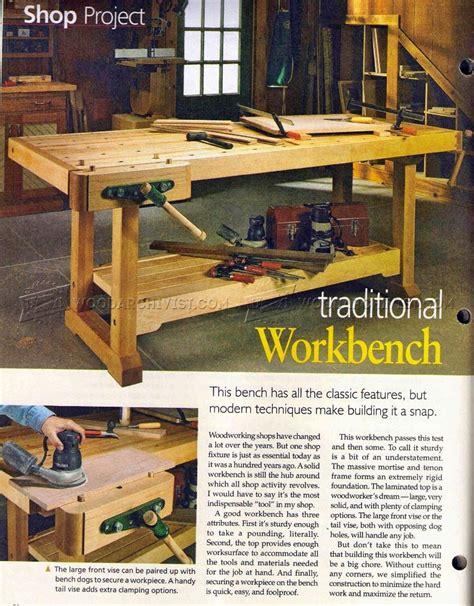 traditional workbench plans woodarchivist