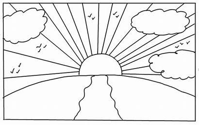 Sunrise Drawing Draw Step Sunrises Before Night
