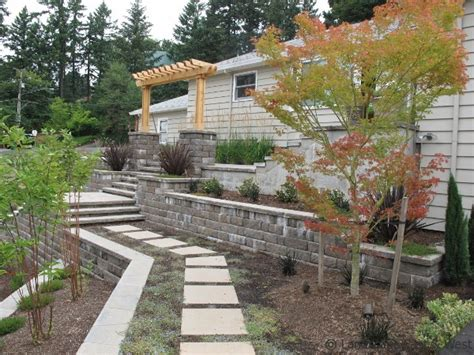 custom retaining wall designs  portland landscaping