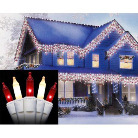stores that sell christmas lights set of 100 and frosted white mini icicle lights white wire walmart