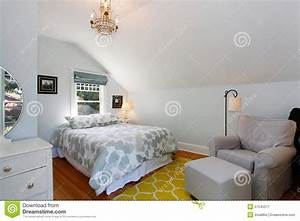 Bright Bedroom With Pastel Spring Colors. Stock Photo ...