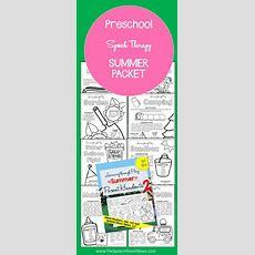 Preschool Speech Therapy Summer Packets  Speech Room News  Speech Room News Pinterest