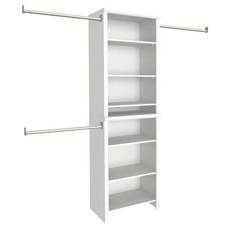 Closet Storage Closetmaid by Closetmaid Impressions 25 In W White Standard Closet Kit