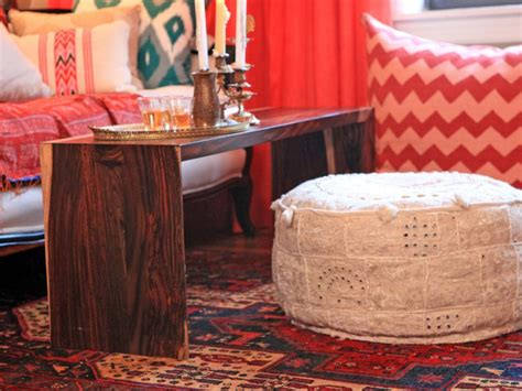 moroccan leather pouf living room seating hgtv