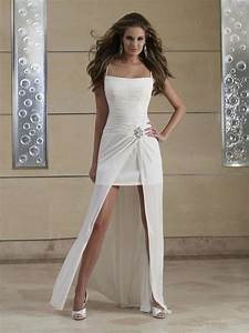 casual short beach wedding dresses sangmaestro With casual short wedding dresses